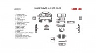 Land Rover Range Rover 1996, 1997, 1998, 1999, 2000, 2001, 2002, Full Interior Kit, 21 Pcs.