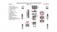 Lincoln Aviator 2003, 2004, 2005, 2006, With Heated Seats, Basic Interior Kit, 19 Pcs., Match OEM