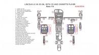 Lincoln LS V6 2003, 2004, 2005, 2006, Basic Interior Kit, With CD & Cassette Player, 34 Pcs.