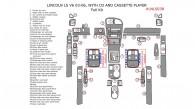 Lincoln LS V6 2003, 2004, 2005, 2006, Full Interior Kit, With CD & Cassette Player, 47 Pcs.