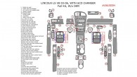 Lincoln LS V8 2003, 2004, 2005, 2006, Full Interior Kit, w/o OEM, With 6 CD Changer, 52 Pcs.