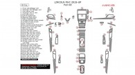 Lincoln MKC 2015, 2016, 2017, Full Interior Kit, 49 Pcs.
