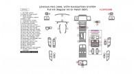 Lincoln MKS 2009, With Navigation System, Full Interior Kit (Regular Kit Or Match OEM), 29 Pcs.