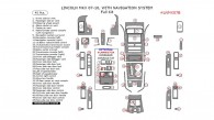 Lincoln MKX 2007, 2008, 2009, 2010, With Navigation System, Full Interior Kit, 45 Pcs., Match OEM