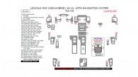 Lincoln MKZ 2010, 2011, 2012, (Non-Hybrid) With Navigation System, Full Interior Kit, 36 Pcs.
