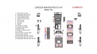 Lincoln Navigator 2003-2004, Basic Interior Kit, 22 Pcs. Match OEM