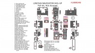Lincoln Navigator 2003-2004, 2004.5, Full Interior Kit, Without Sunroof, 68 Pcs. Match OEM