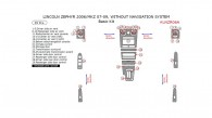 Lincoln MKZ (2007, 2008, 2009) / Zephyr (2006), Without Navigation System, Basic Interior Kit, 29 Pcs.