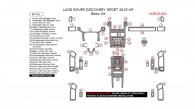 Land Rover Discovery Sport 2015, 2016, 2017, Basic Interior Kit, 48 Pcs.