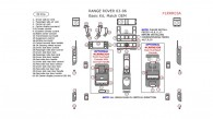 Land Rover Range Rover 2003, 2004, 2005, 2006, Basic Interior Kit, 39 Pcs.