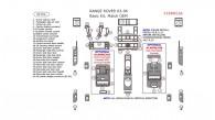 Land Rover Range Rover 2003, 2004, 2005, 2006, Basic Interior Kit, 39 Pcs.