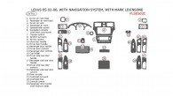 Lexus ES 2002, 2003, 2004, 2005, 2006, Interior Dash Kit, With Navigation System, With Mark Levinsone, 24 Pcs.