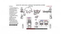 Lexus RX 2010, 2011, 2012, Without Navigation System, Main Interior Kit, 37 Pcs.