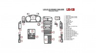 Lexus GS 1998, 1999, 2000, Interior Dash Kit, Nakamichi Radio, Match OEM, Natural Wood, 26 Pcs.