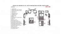 Lexus GS 2001, 2002, 2003, 2004, 2005, Interior Dash Kit, With Navigation System, 26 Pcs., Match OEM