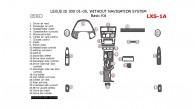 Lexus IS 2001, 2002, 2003, 2004, 2005, Basic Interior Kit, Without Navigation, 25 Pcs.