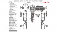 Lexus IS 2001, 2002, 2003, 2004, 2005, Full Interior Kit, Without Navigation, 34 Pcs