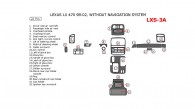 Lexus LX 1998, 1999, 2000, 2001, 2002, Interior Dash Kit, Without Navigation System, 22 Pcs. Match OEM