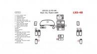 Lexus LS 1993-1994, Main Interior Kit, 18 Pcs., Match OEM