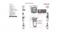 Lexus ES 1992, 1993, 1994, 1995, 1996, Main Interior Kit (1992-1993), 15 Pcs.