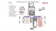 Lexus GS 1993, 1994, 1995, 1996, 1997, Interior Dash Kit, Pioneer Radio, Match OEM, 17 Pcs.