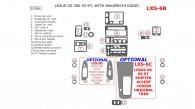 Lexus GS 1993, 1994, 1995, 1996, 1997, Interior Dash Kit, Nakamichi Radio, Match OEM, 17 Pcs.