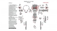 Mazda CX-7 2007, 2008, 2009, Full Interior Kit, 75 Pcs.