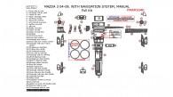 Mazda 3 2004, 2005, 2006, 2007, 2008, 2009, With Navigation, Manual, Full Interior Kit, 57 Pcs.