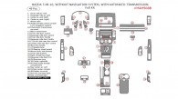 Mazda 5 2008-2010, Without Navigation System, With Automatic Transmission, Full Kit, 49 Pcs.