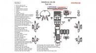 Mazda 6 2003, 2004, 2005, Full Interior Kit, 51 Pcs.