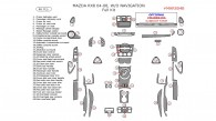 Mazda RX-8 2004, 2005, 2006, 2007, 2008, Full Interior Kit, W/o Navigation, 46 Pcs.