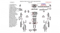 Mazda RX-8 2004, 2005, 2006, 2007, 2008, Full Interior Kit, With Navigation, 47 Pcs.