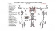 Mazda RX-8 2009, 2010, 2011, Without Navigation System, Full Interior Kit, 60 Pcs.