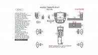 Mazda Tribute 2005, 2006, 2007, Full Interior Kit, 30 Pcs.