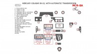 Mercury Cougar 1999, 2000, 2001, 2002, Interior Dash Kit, With Automatic Transmission, 20 Pcs.