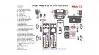 Mazda Tribute 2001, 2002, 2003, 2004, Interior Dash Kit, With Glove Box, 31 Pcs.