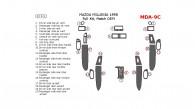 Mazda Millenia 1997-1998, Mazda Millenia 1998, Full Interior Kit, 20 Pcs., Match OEM