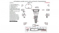 Mitsubishi Lancer 2002, 2003, 2004, 2005, With Automatic Transmission, Basic Interior Kit, 26 Pcs.