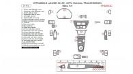 Mitsubishi Lancer 2002, 2003, 2004, 2005, With Manual Transmission, Basic Interior Kit, 26 Pcs.