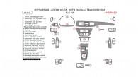 Mitsubishi Lancer 2002, 2003, 2004, 2005, With Manual Transmission, Full Interior Kit, 29 Pcs.