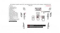 Mitsubishi Lancer 2008, 2009, 2010, 2011, 2012, 2013, Without Navigation System, With Manual Transmission, Basic Interior Kit, 29 Pcs.