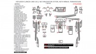 Mitsubishi Lancer 2008, 2009, 2010, 2011, 2012, 2013, Without Navigation System, With Manual Transmission, Full Interior Kit, 68 Pcs.