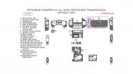 Mitsubishi Montero 2001-2002, Interior Dash Kit, With Sportronic Transmission, Without OEM, 21 Pcs.