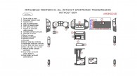 Mitsubishi Montero 2001, 2002, 2003, 2004, 2005, 2006, Interior Dash Kit, Without Sportronic Transmission, Without OEM, 20 Pcs.