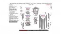 Mitsubishi ASX/Outlander Sport/RVR 2011, 2012, 2013, Without Navigation System, Basic Interior Kit, 25 Pcs.