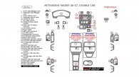 Mitsubishi Raider 2006-2007, Interior Dash Kit, Double Cab, 39 Pcs.