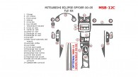 Mitsubishi Eclipse Spyder 2000, 2001, 2002, 2003, 2004, 2005, Full Interior Kit, 24 Pcs.