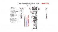 Mitsubishi Eclipse Spyder 2000, 2001, 2002, 2003, 2004, 2005, Basic Interior Kit, 18 Pcs.