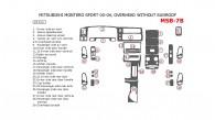 Mitsubishi Montero Sport 2000, 2001, 2002, 2003, 2004, Interior Dash Kit, With Overhead, Without Sunroof, 29 Pcs.