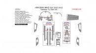 Mercedes GLK 2010, 2011, 2012, Addition To Main Interior Kit, 23 Pcs.